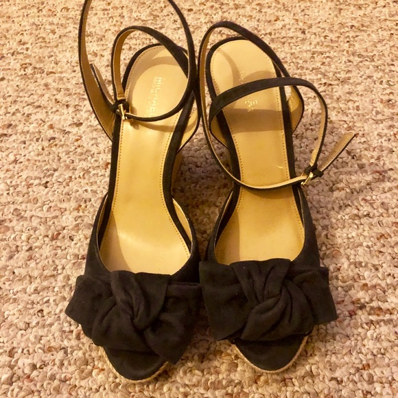 MICHAEL Michael Kors Shoes - Michael Kors Willa wedge in dark blue suede size 9
